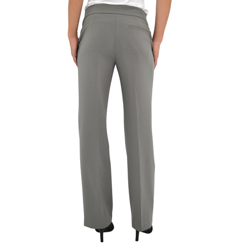 Womens Lisette L Zip Front Trouser in Cement - Brother's on the Boulevard