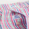 Southern Tide Plaid Boxer in Red Snapper