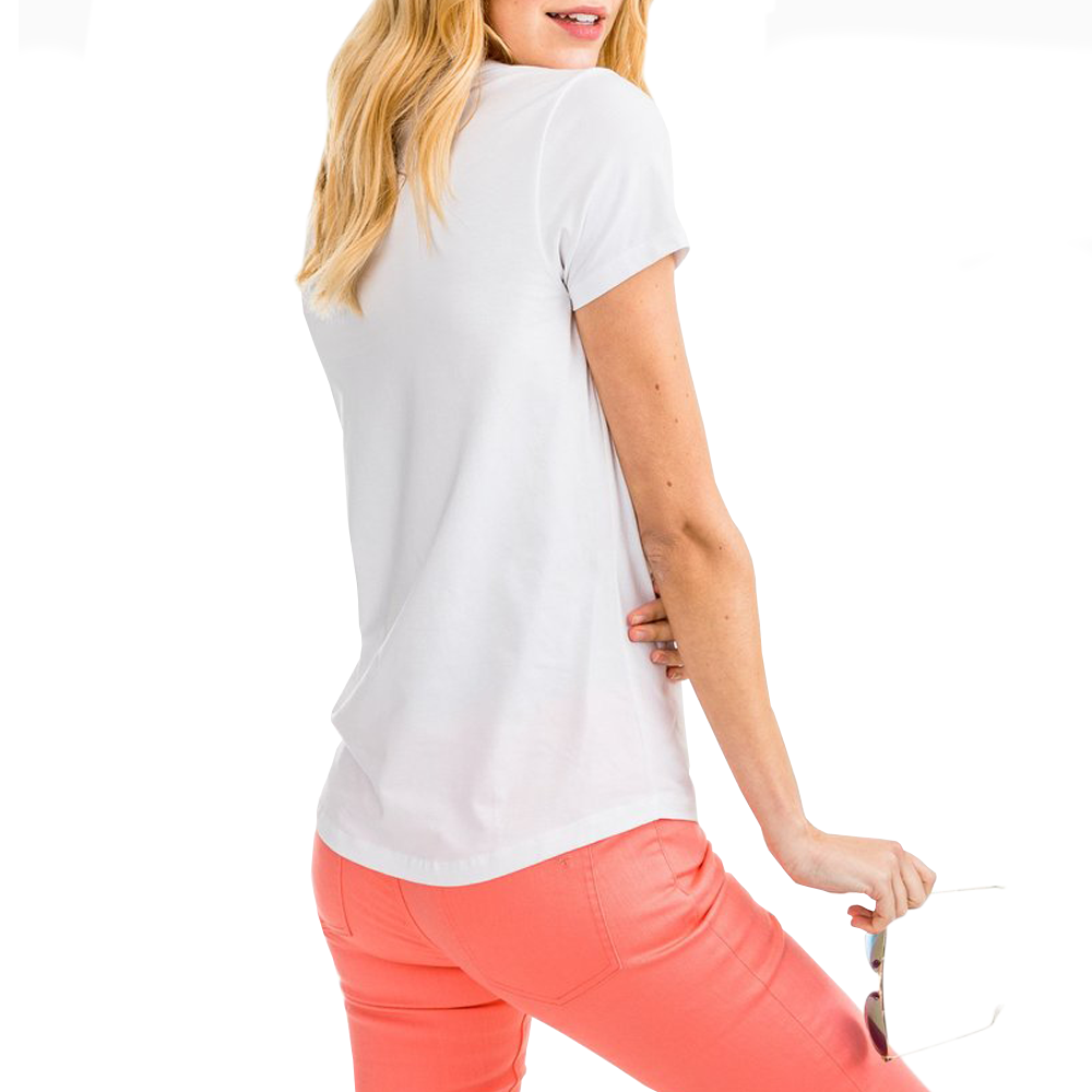 Womens Southern Tide Sydney Tee in White - Brother's on the Boulevard