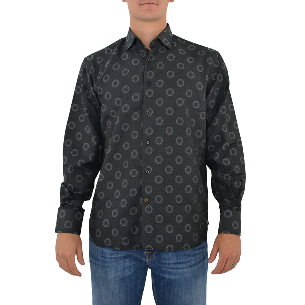 Luchiano Visconti 39147 Sport Shirt in Black