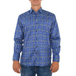 Luchiano Visconti  3994 Sport Shirt in Blue