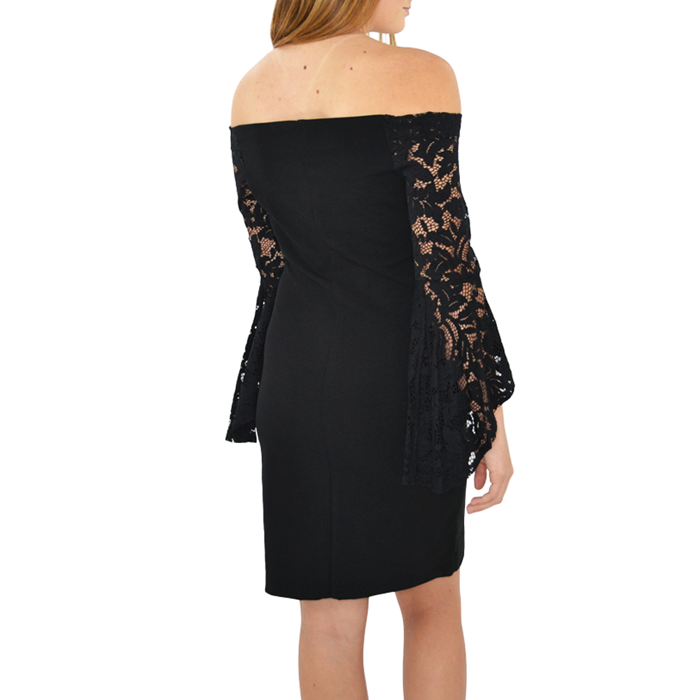 Womens Fifteen Twenty Lace Sleeve Dress in Black - Brother's on the Boulevard