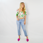 Womens Rouge Tropical Crop Top in Multicolor - Brother's on the Boulevard
