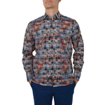 Luchiano Visconti Button Down Dress Shirt in Paisley Multi