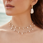 Kendra Scott Krissa Baroque Gold Choker Necklace In Pearl