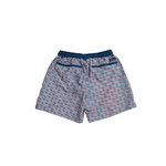 Mens Southern Marsh Lattice Dockside Swim Trunk in Slate and Peach - Brother's on the Boulevard