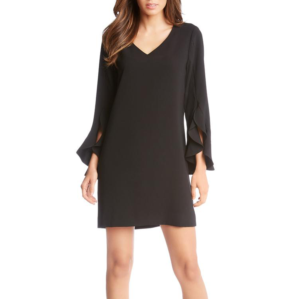 Womens Fifteen Twenty Ruffle Sleeve Dress in Black - Brother's on the Boulevard