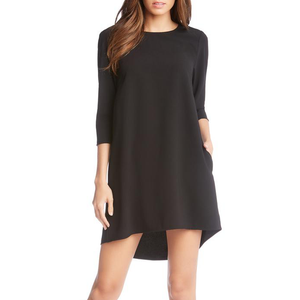 Womens Fifteen Twenty Hi Lo Hem Shift Dress in Black - Brother's on the Boulevard