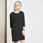 Fifteen Twenty Hi Lo Hem Shift Dress in Black