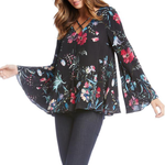 Womens Fifteen Twenty Criss Cross Flare Blouse in Floral - Brother's on the Boulevard