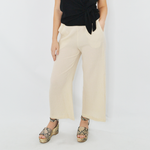 Poche 1913 Popcorn Wide Leg Pant in Sand