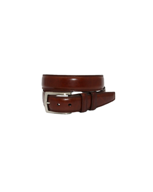 Mens Torino Burnished Kipskin Belt in Chili - Brother's on the Boulevard