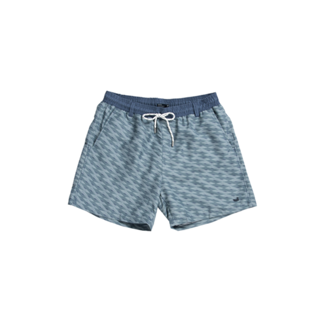 Mens Southern Marsh Lattice Dockside Swim Trunk in Slate and Mint - Brother's on the Boulevard