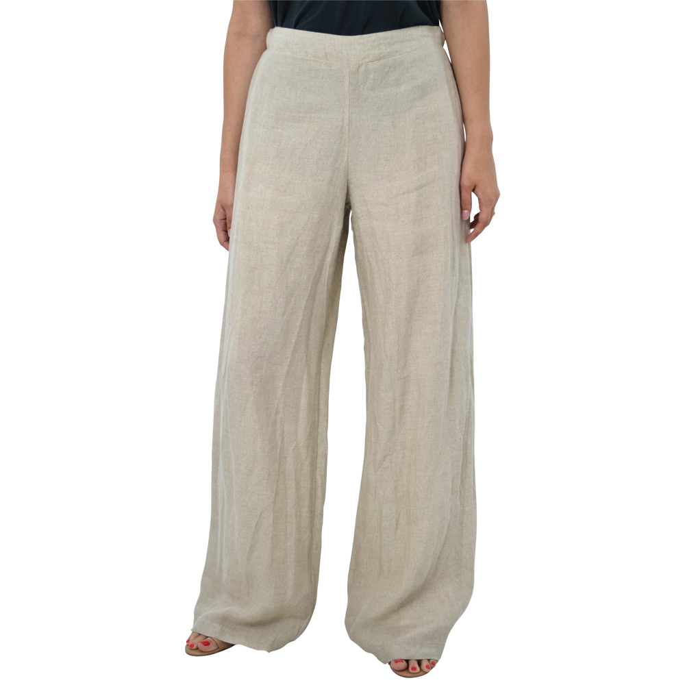Womens Catherine Kate Linen Pant in Jute - Brother's on the Boulevard