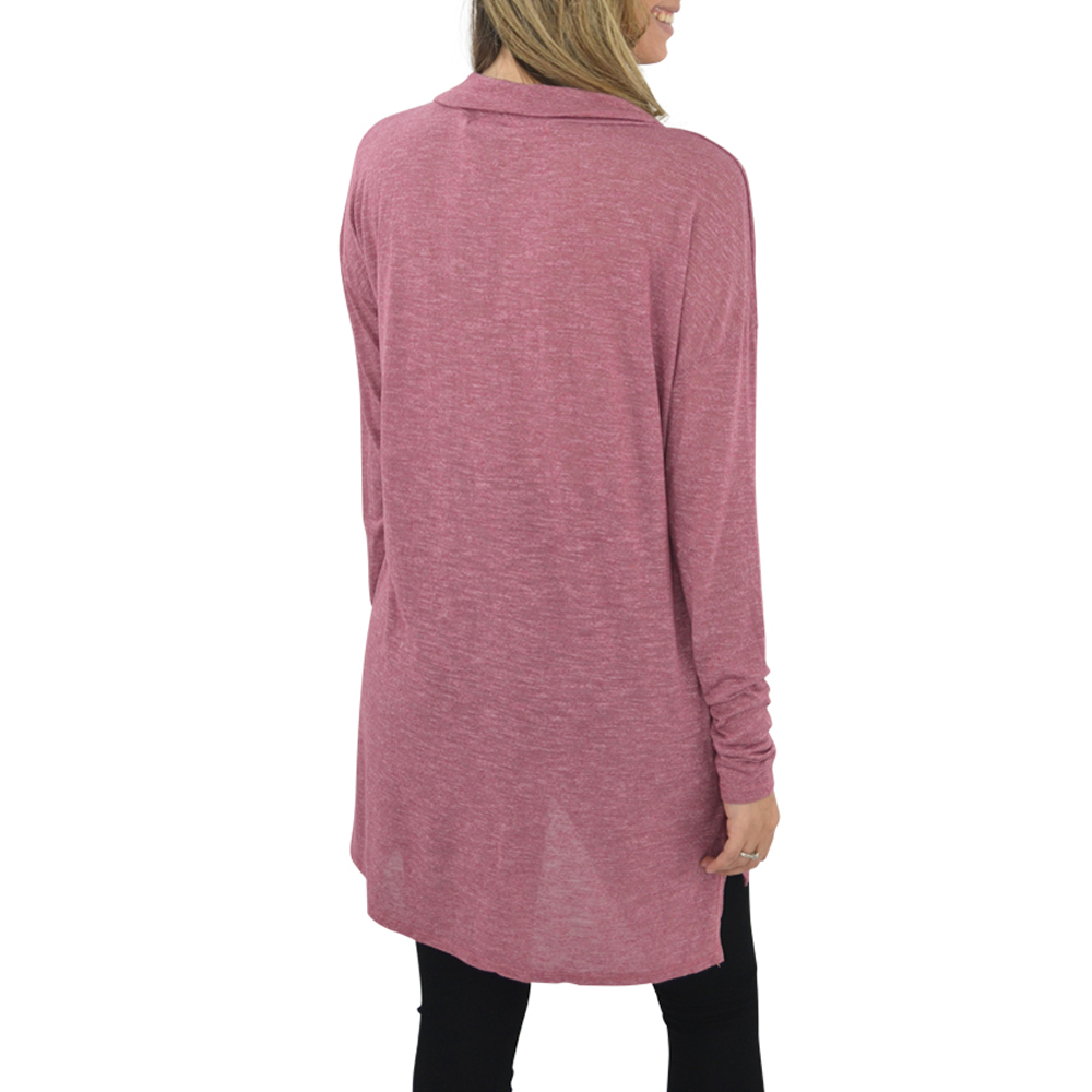 Womens Michael Stars Brooklyn Jersey Cowl Neck Tunic in Rose - Brother's on the Boulevard
