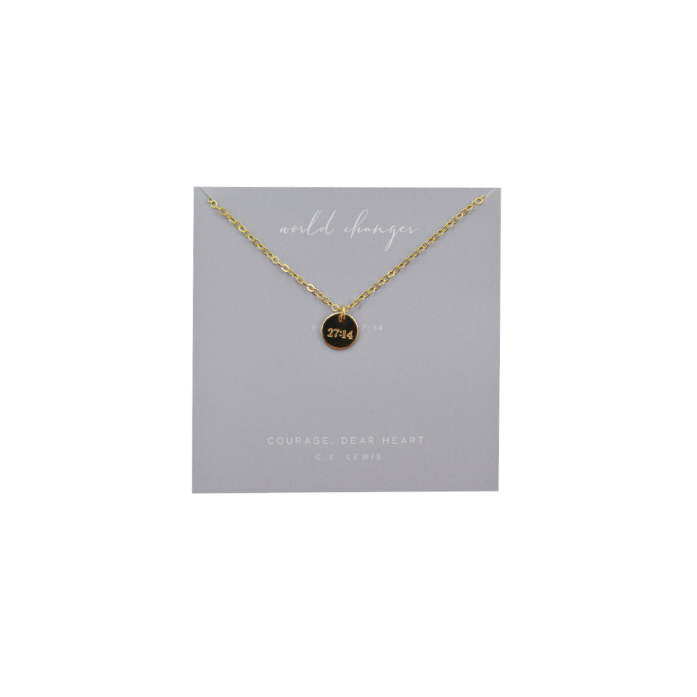 Womens Dear Heart World Changer Pendant Necklace in Gold - Brother's on the Boulevard
