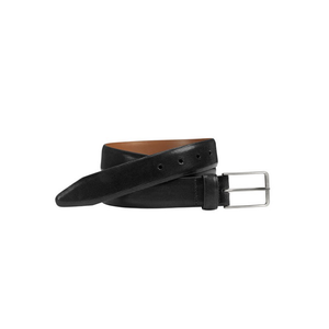 Mens Johnston & Murphy Feather Edge Belt in Black - Brother's on the Boulevard