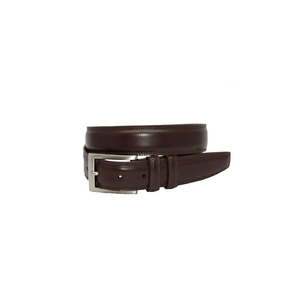 Mens Torino Italian Aniline Leather Belt in Brown - Brother's on the Boulevard