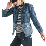 Lucky Brand Remade Waisted Trucker Denim Jacket in Bolgart