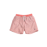Mens Southern Marsh Herringbone Dockside Swim Trunk in Coral and Mint - Brother's on the Boulevard