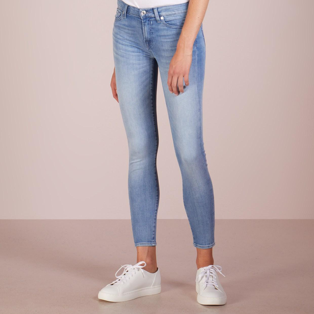 7 For All Mankind B(air) Denim High Waist Ankle Skinny in Mirage