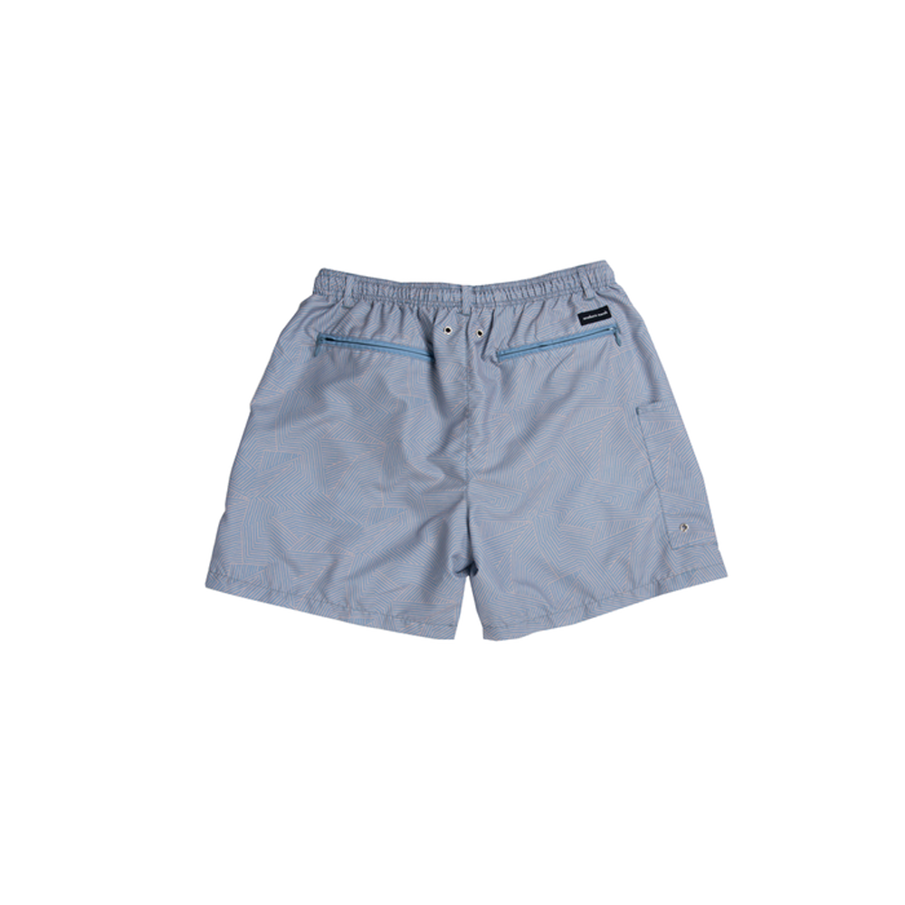 Mens Southern Marsh Maldives Chambray Dockside Swim Trunk in Navy - Brother's on the Boulevard