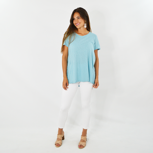 Womens Michael Stars Wendy High Low Tee in Echo - Brother's on the Boulevard
