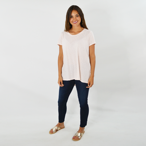 Womens Michael Stars Wendy High Low Tee in Champ - Brother's on the Boulevard