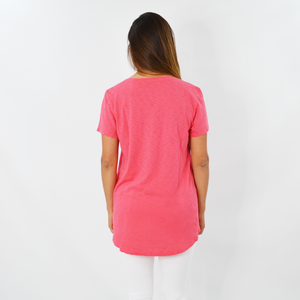 Womens Michael Stars Wendy High Low Tee Tee in Teaberry - Brother's on the Boulevard