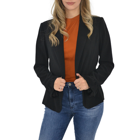 Womens Catherine Kate Mia Crepe Jacket in Black - Brother's on the Boulevard