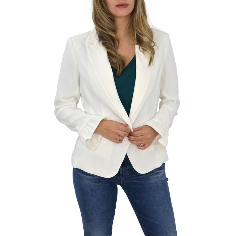 Womens Catherine Kate Mia Crepe Blazer in Ivory - Brother's on the Boulevard