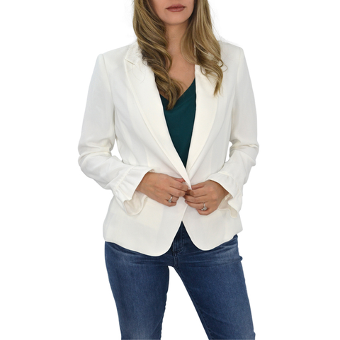 Womens Catherine Kate Mia Crepe Jacket in Ivory - Brother's on the Boulevard
