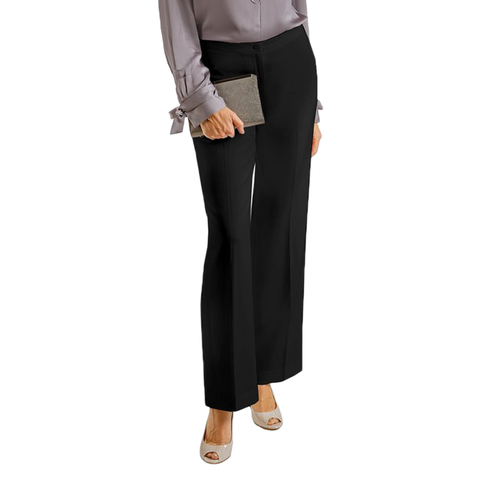 Womens Catherine Kate Sabrina Mini Waist Crepe Band Pant in Black - Brother's on the Boulevard