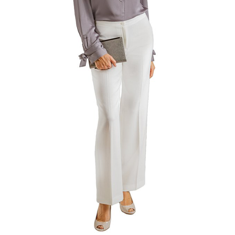 Womens Catherine Kate Sabrina Mini Waist Crepe Band Pant in Ivory - Brother's on the Boulevard