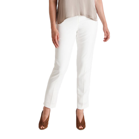 Womens Catherine Kate Jasmine Slim Crepe Pant in Ivory - Brother's on the Boulevard