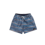 Mens Southern Marsh Waves Seawash Shoals Swim Trunk in Navy and Peach - Brother's on the Boulevard