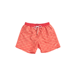 Mens Southern Marsh School's Out Dockside Swim Trunk in Strawberry Fizz and Tangerine - Brother's on the Boulevard