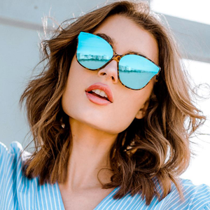 Womens DIFF Eyewear Piper Sunglasses in Amber Tortoise/Blue Flash Mirror - Brother's on the Boulevard