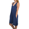 Womens C.O.A V Neck Tank Dress in Navy - Brother's on the Boulevard