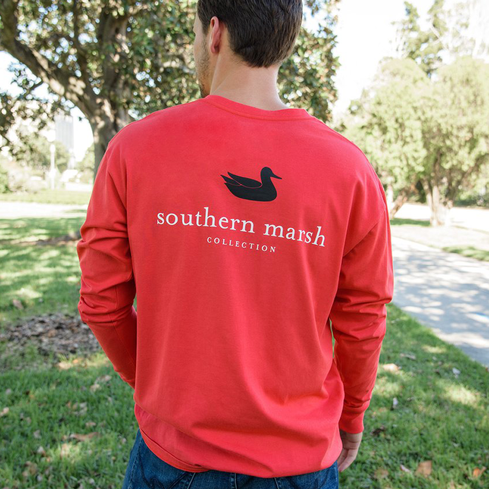 Southern Marsh Authentic Long Sleeve in Red/Black