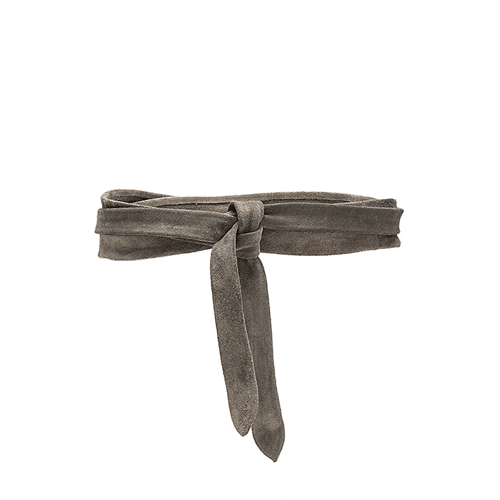 ADA Collection Midi Grey Suede Belt
