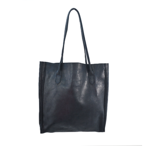Womens Cofi Leather Amy Tote in Navy - Brother's on the Boulevard