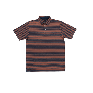 Mens Southern Marsh Aiken Bermuda Performance Polo in Navy and Orange - Brother's on the Boulevard
