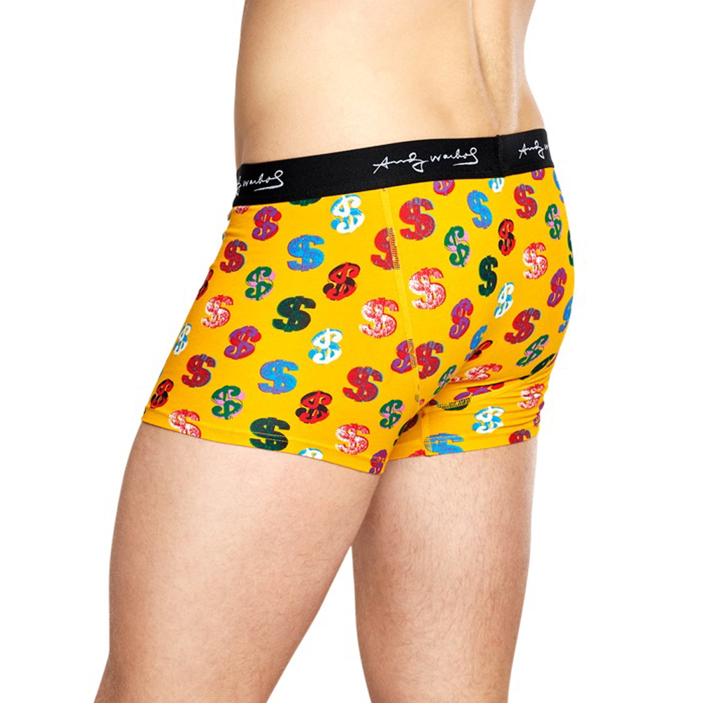 Mens Happy Socks Andy Warhol Dollar Trunk in Yellow - Brother's on the Boulevard