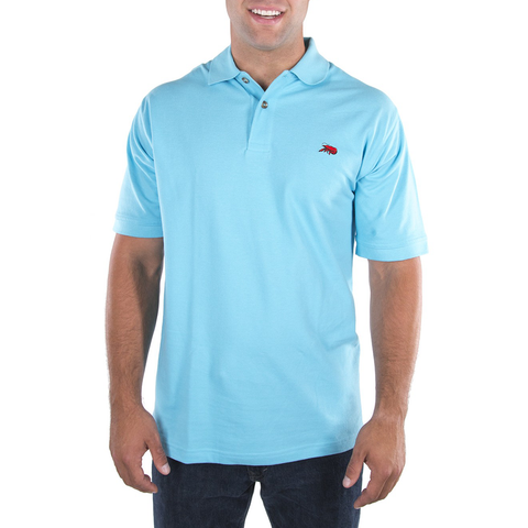Mens Perlis Crawfish Polo in Aqua - Brother's on the Boulevard