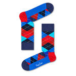 Mens Happy Socks Argyle Sock in Blue and Red - Brother's on the Boulevard
