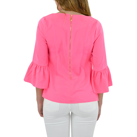 Womens Julie Brown Designs Aria Top in Punch Pink - Brother's on the Boulevard