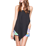 Womens NYLA Kiara Asymmetrical Tank in Black - Brother's on the Boulevard