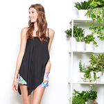 NYLA Kiara Asymmetrical Tank in Black
