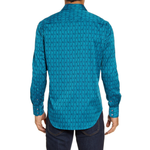 Mens Robert Graham Atlas Regular Fit Button-Up Sport Shirt in Teal - Brother's on the Boulevard